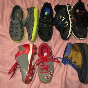 Under Armour Shoes - Lot of 5 pairs Boys size 11C shoes under armour +